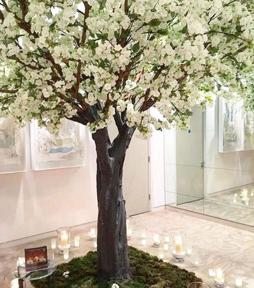 White blossom trees by Twilight Trees