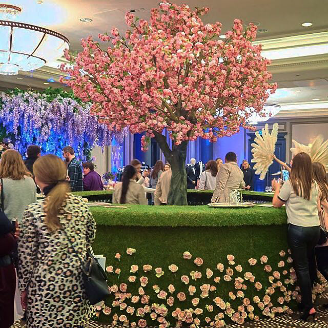 Pink Blossom trees at Bridelux Atelier