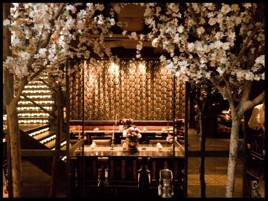 Japenese blossoms at the Buddha Bar, London