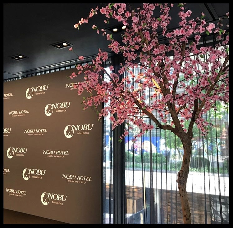 Twilight Trees at the opening of Nobu Shoreditch