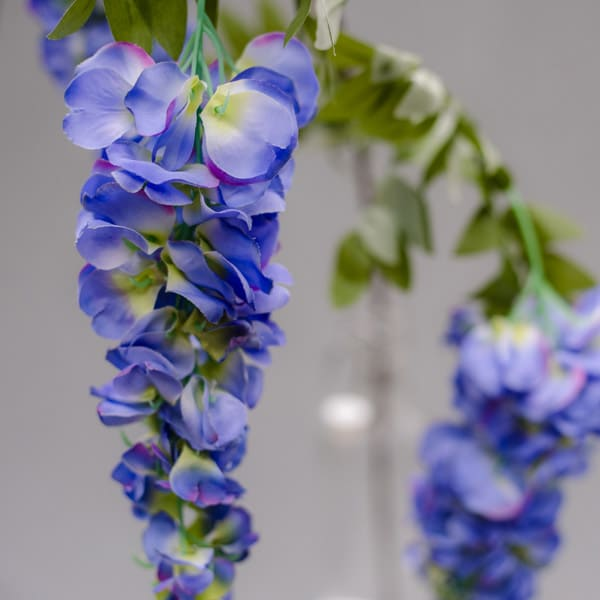 Hire violet wisteria stems by Twilight Trees