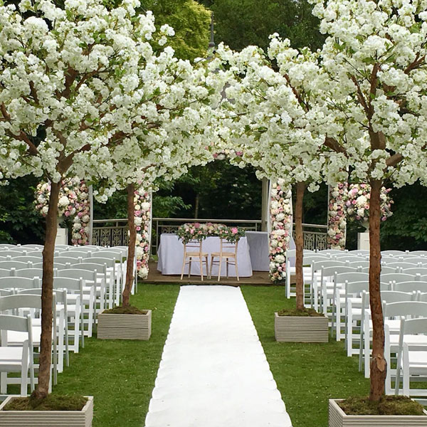 Hire white apple blossom trees by Twilight Trees