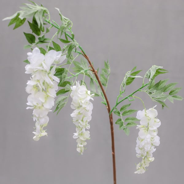 Hire white wisteria stems by Twilight Trees