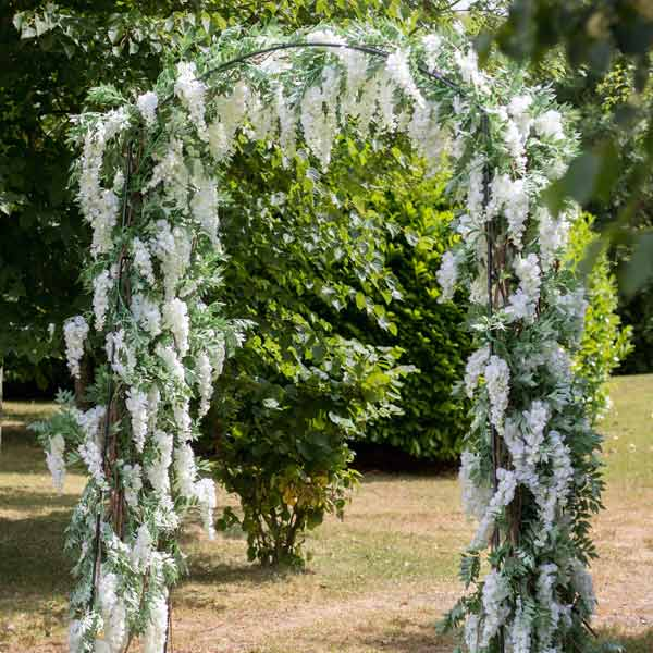 Hire wisteria arch by Twilight Trees