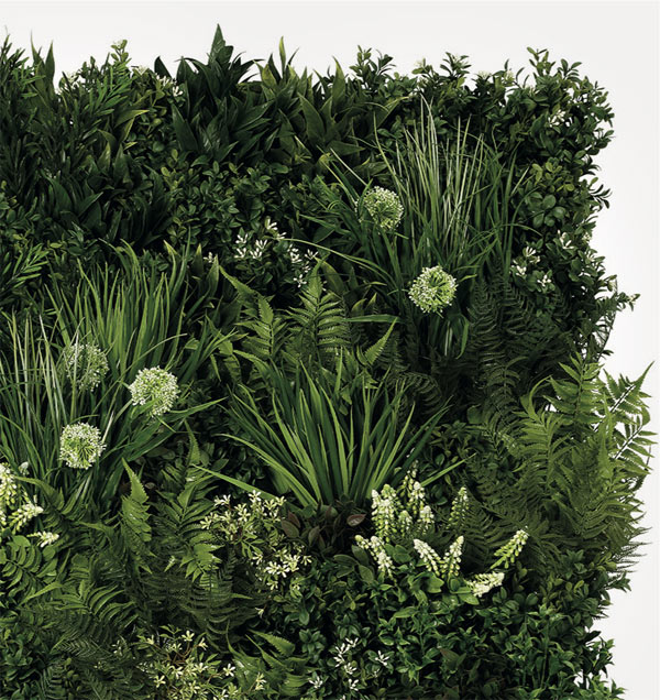 Opal Faux Living Wall by Twilight Trees