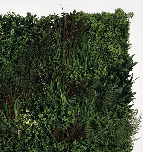 Ruby Faux Living Wall by Twilight Trees