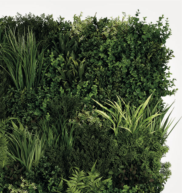 Emerald Faux Living Wall by Twilight Trees