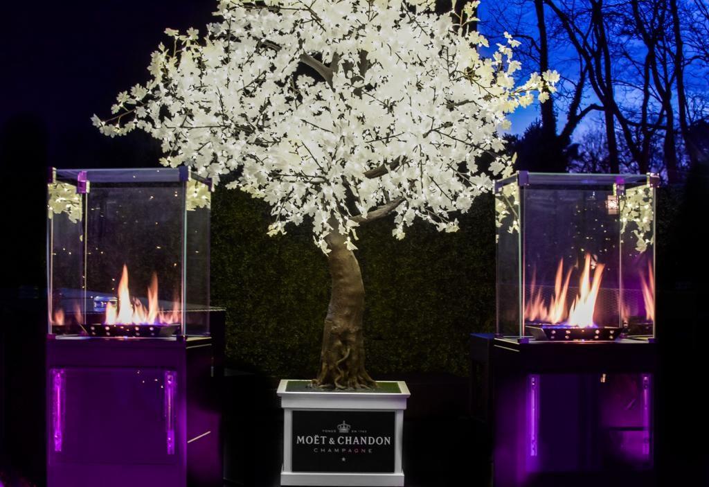 Twilight Trees' tree with Moet & Chandon branding