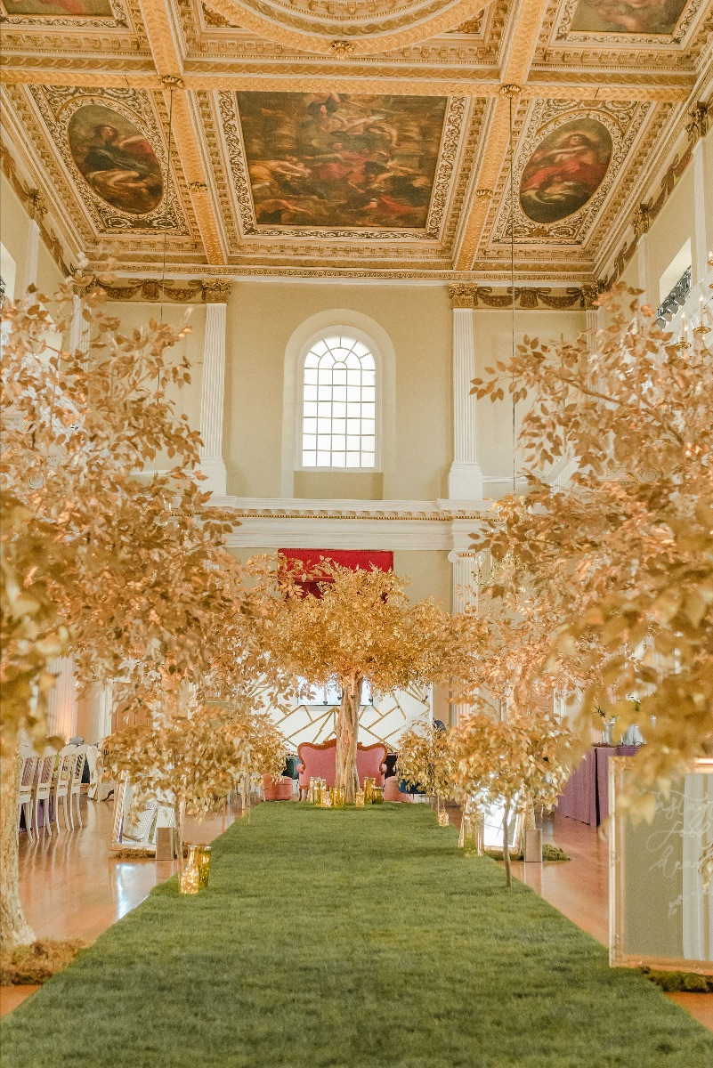 Gold trees at Banquetting House
