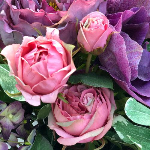 Hyrangea Mixed Arrangement in a Vase by Twilight Trees