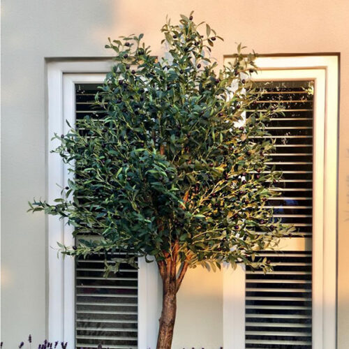 Large faux olive tree by Twilight Trees