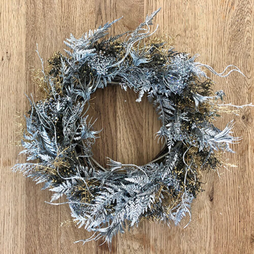 Narnia faux Christmas wreath by Twilight Trees